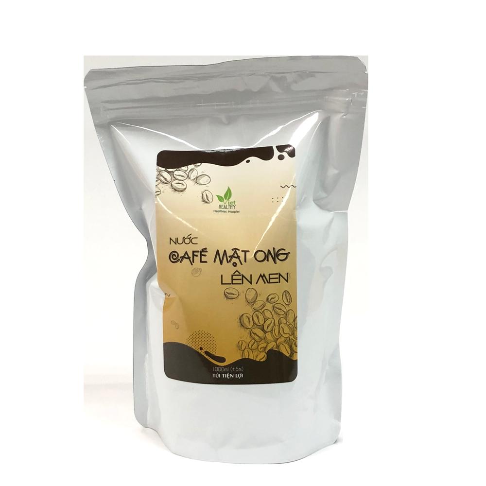 Nước café mật ong lên men 1 lit túi tiện lợi