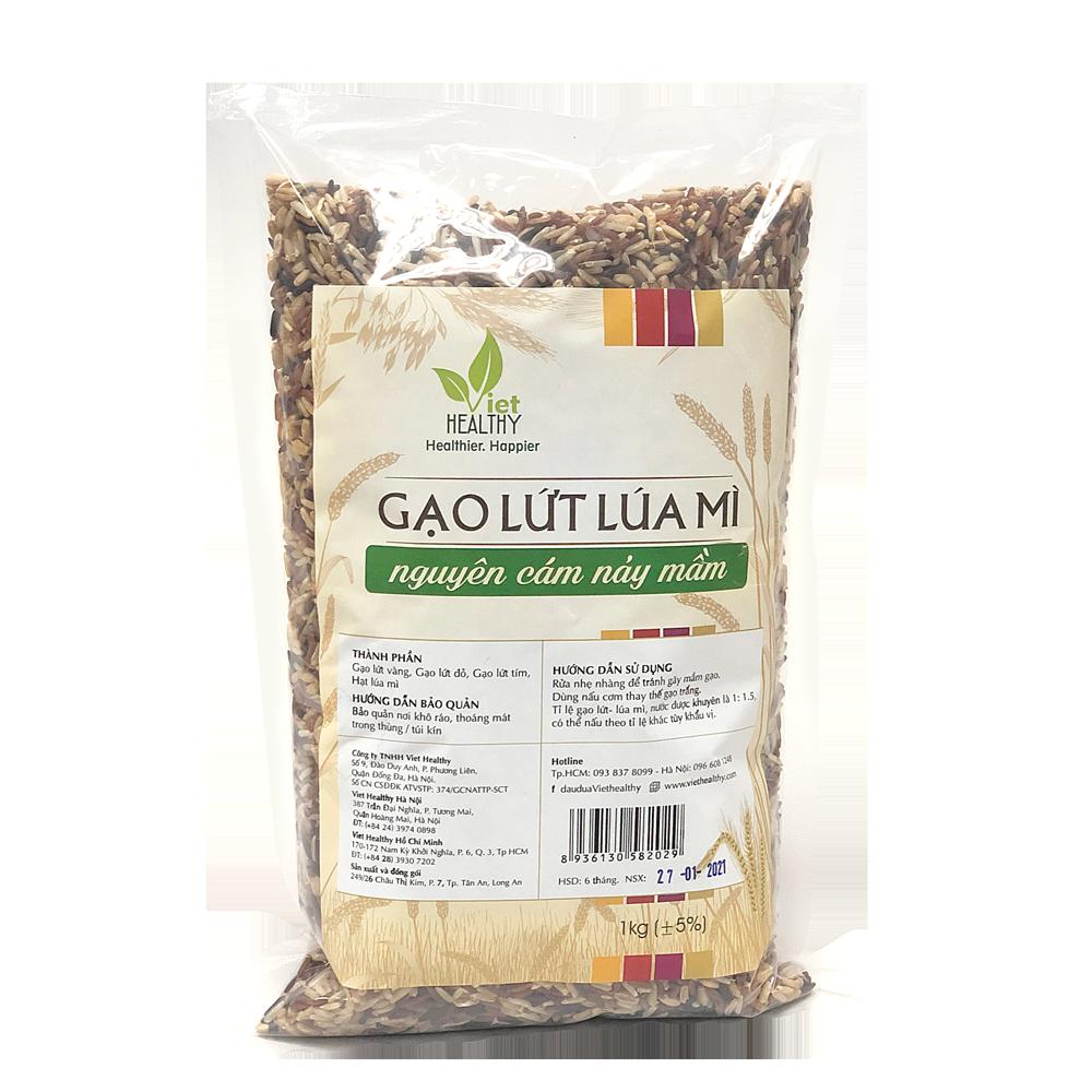 Gạo lứt lúa mì nguyên cám nảy mầm 1kg