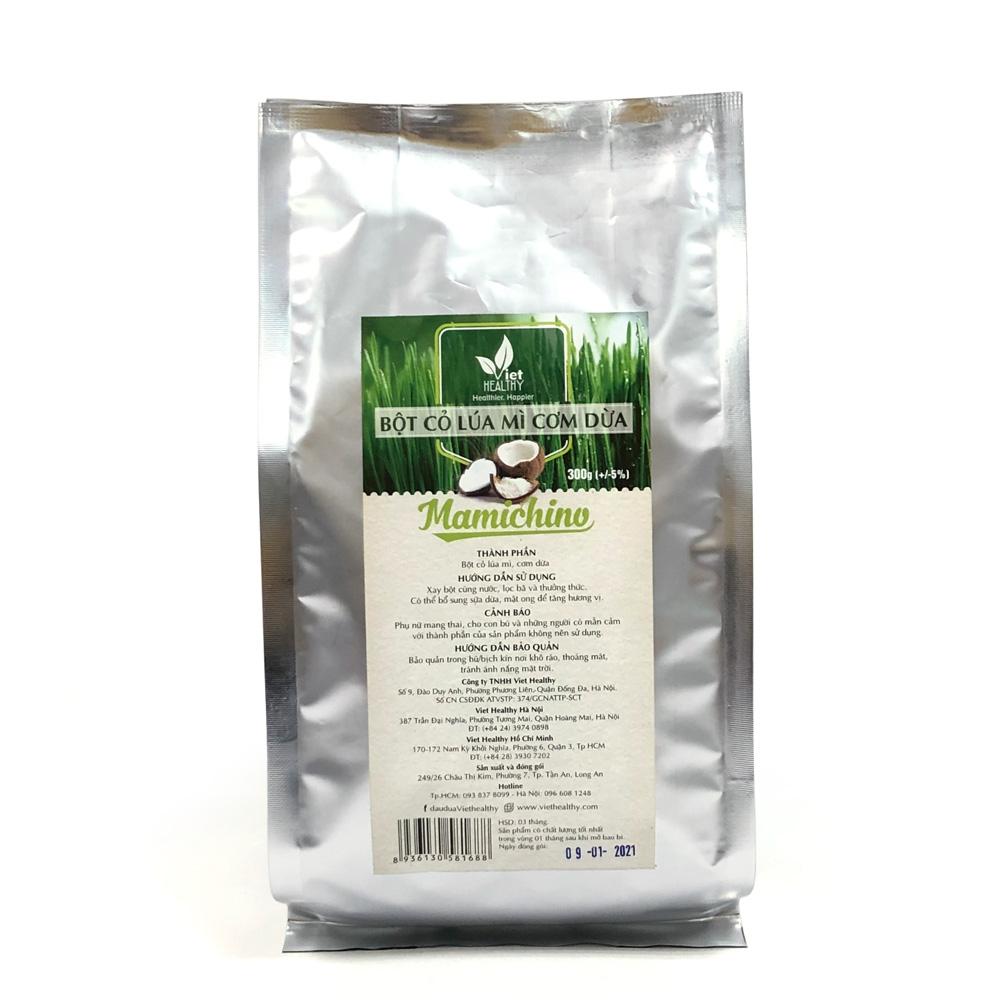 Bột cỏ lúa mì cơm dừa Mamichino 300g